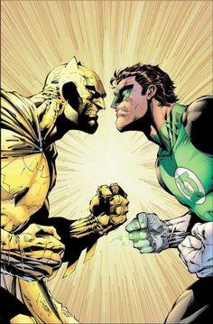 Yellow Batman Vs Green Lantern by Jim Lee