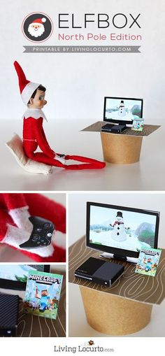 Cute Printables with Minecraft and Fortnite elf sized games will give kids a fun surprise! Elf Video Game Printables are perfect for your Christmas Elf on the Shelf! Christmas Elf, Christmas Humor, All Things Christmas, Christmas Ideas, Minecraft Christmas, Christmas Goodies, Homemade Christmas, Christmas Recipes, Elf On The Shelf