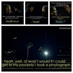 The Blind Banker, love this scene! John proves he's just as clever as Sherlock, just in a different way.