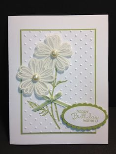 Secret garden ; Field flowers ; Cuttlebug Swiss dots embossing folder ; Petite pairs ; Scalloped oval punch ; Large oval punch ; Birthday