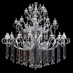 The Idea Of A Crystal Chandelier Contemporary Models Unique Steel Frame Hanger Dazzling Lights