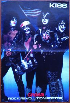 Kiss Creem Magazine Color Poster Two Sided 1976 1977 Gene Paul Peter Ace RARE   eBay