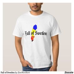 Fall of Sweden T-Shirt Cool T Shirts, Sweden, Rib Knit, Shirt Style, Fitness Models, Mens Fashion, Mens Tops, How To Wear, Fashion Design
