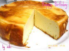 水切りヨーグルトと米粉のチーズケーキ