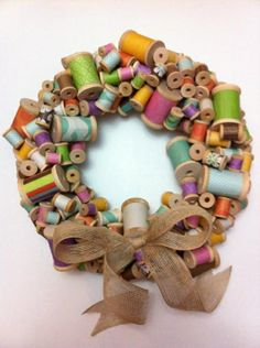 unusual wreaths | What a unique wreath! | Sewing and such