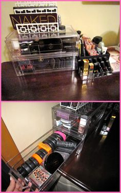 Makeup Organization - similar to mine...I went with the Muji 3 drawer system and bought two sets.  LOVE the way it looks!!