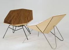 Lovely wooden 'origami' chair