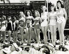 1942 Miss Victory Beauty Contest held at the Victory House in Los Angeles.