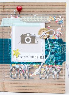 cover of Gluestickgirl's daybook of Ali Edwards' A day in the life project!