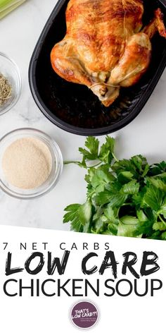 Keto Chicken Soup made in an Instant Pot is a healthy, flavorful homemade culinary cure for complicated dinners. Don't settle for canned impostors. Low Carb Dinner Recipes, Clean Eating Recipes, Lunch Recipes, Real Food Recipes, Keto Recipes, Healthy Recipes, Diabetic Recipes, Cooker Recipes, Free Recipes