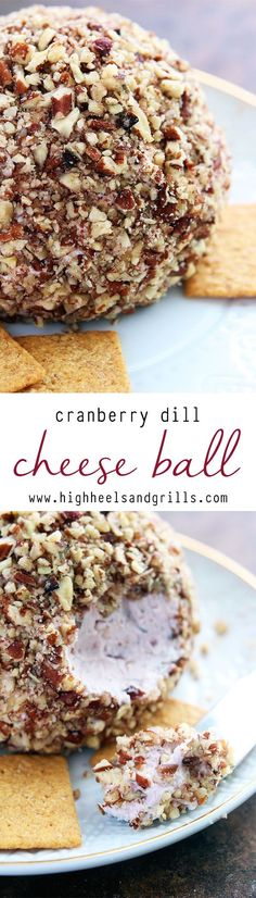 Cranberry Dill Cheese Ball - The sweet and savory taste of this cheese ball makes it the most amazing appetizer ever!
