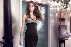 """Vancouver dress with liquid push-up bra up to cup D According to out tester models, """"the Vancouver collection is much too beautiful to be worn just as underwear"""". This spurred the Coco-Cavalière designers into action. The result is a – very – little black dress that is as fitting for the opera as it is for a New Year's Eve party."""