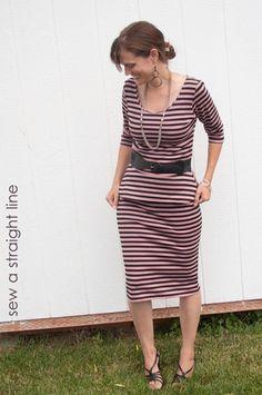 modified #ladyskater dress by #kitscheycoo peplum pencil-3b