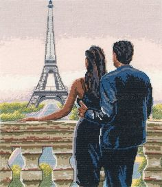 Set against the Eiffel Tower, this romantic picture is one that can certainly evoke memories. With great detail and a nice contrast, this cross stitch...