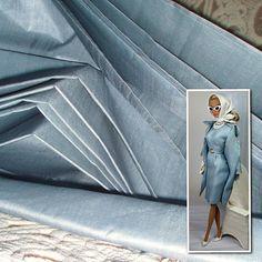 Ahimsa peace silk Fabric. 100% Pure Silk Fabric. Sheer Silk Fabric. Bridesmaid Silk. Light weight. ICE CREAM SHOP collection. Fog Blue