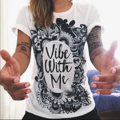 • Vibe Graphic Tee • Brand new in package! The perfect graphic tee ✌️ Super soft and a great fit. Tops Tees - Short Sleeve