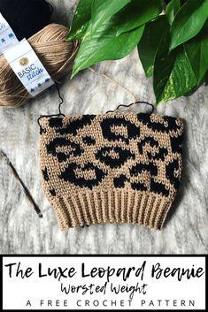 Crochet Beanie Hat, Beanie Pattern, Knitted Hats, Love Crochet, Crochet Gifts, Knit Crochet, Crochet Winter, Tapestry Crochet Patterns, Crochet Stitches
