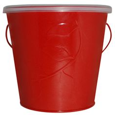 TIKI�5.3-in Outdoor Red Tabletop Citronella Candle.  Necessary patio accoutrement.  Like the colorful tin.