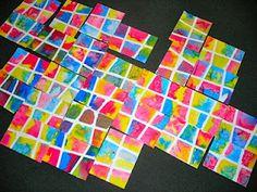 "Fine Lines: ""A Burst of Color"" - salt and water colour!"