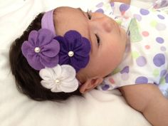 Felt Flower headband-Baby headband-Infant Headband - Toddler Headband -Newborn headband. $8.25, via Etsy.
