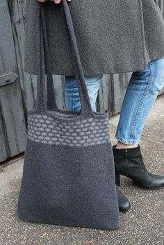 Image of Murværk Knit Crochet, Crochet Bags, Knitting Designs, My Design, Tote Bag, Purses, Handmade, Clutches, Totes