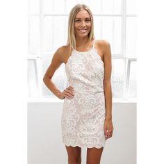 "Esther Anastasia lace dress - ivory Esther boutique's ""Anastasia lace dress"" in ivory. Australian size 6, United States size 0-2, extra-small. Esther Dresses Mini"
