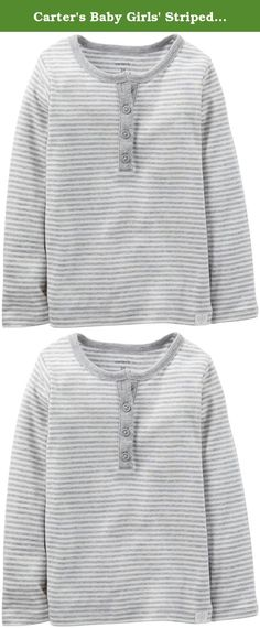 Carter's Baby Girls' Striped Henley (Baby) - Gray - 6 Months. Carter's Striped Henley (Baby) - Gray Carter's is the leading brand of children's clothing, gifts and accessories in America, selling more than 10 products for every child born in the U.S. Their designs are based on a heritage of quality and innovation that has earned them the trust of generations of families.