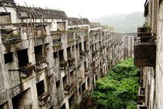 """Taiwan (exact location between Ln. 290 and 230, Diaohe St., Zhongzheng Dist., Keelung City).""""It's an uncompleted community and I really don't know why it's been abandoned,"""" says the photographer, Flickr user 'cock_a_doodle_do'."""