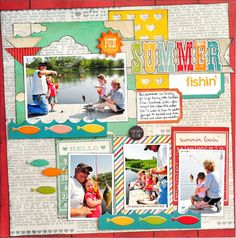 I {Heart} Summer line by Jill.  Cute layout with more than one picture!