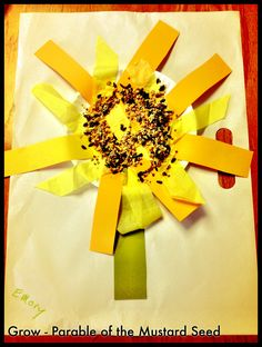Parable of the Mustard Seed Craft - Preschool