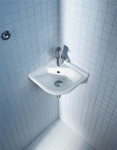 Cloakroom Basins : Starck 3 Corner Cloakroom Basin