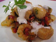 Receta: Taquitos de merluza con patatas arrieras de Enrique Sánchez ~ Cocina con BRA