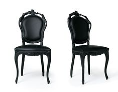 black dining chairs | Black Leather Dining Room Chairs and Leather ...