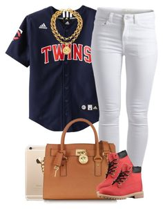 """""""'Cause it's still Timbs season."""" by livelifefreelyy ❤ liked on Polyvore featuring Pieces, Michael Kors, Timberland and Chanel"""