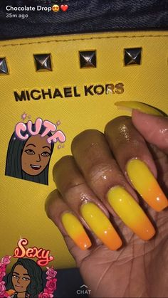 Pinterest: lowkeyy_wifeyy ✨ yellow and orange nails