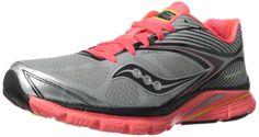 Saucony Women's Kinvara 4 ViziGLO Running Shoe,Silver/Coral/Citron,11 M US Saucony