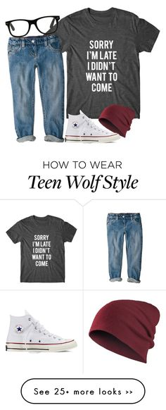 """teen wolf=best show ever"" by fungirl1forlife on Polyvore featuring moda e Converse"