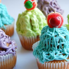 Dribble Monster Cupcakes