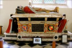 After his execution, Henry Howard was buried in the church of All Hallows, Barking, near the Tower. In 1614, his son, also Henry Howard, moved his father's remains to St Michael's Church, Framlingham and there he was laid to rest beside his wife, Frances Howard (née de Vere) in a magnificent alabaster tomb. I took this photo during my visit to Framlingham last year.