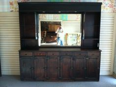 Large Antique Louisiana Apothecary Cabinet circa by Chichesters - from easy. Would look great as a bar. or even to stick the TV in the center. Keep movies and games underneath. Apothecary Cabinet, Liquor Cabinet, Louisiana, 19th Century, Antiques, Cupboard, Cabinets, Kitchens, House