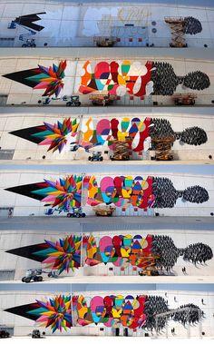Posts about Suso written by vandalvoyeur Sculpture Art, Sculptures, Graffiti Cartoons, Okuda, Installation Art, Art Installations, Assemblage Art, Street Art Graffiti, Yarn Colors
