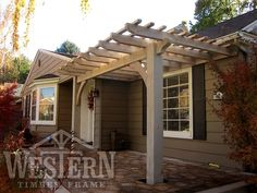 Attached Pergola Gallery, Attached Timber Pergola Images   Western Timber Frame