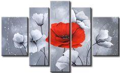 Cuadros Florales Modernos, Dipticos, Tripticos,texturados - $ 1.594,41 en  Mercado Libre