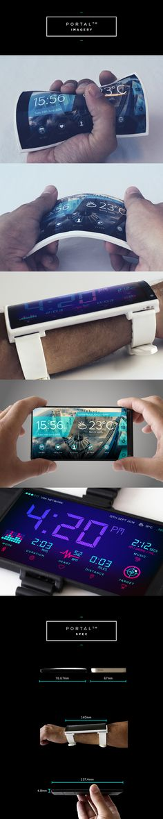 Forget wearable, I just want it because it's bendy!! Portal Wearable Smartphone DisruptOverload | Indiegogo