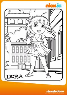 Colora Dora Disegna Con Friends Into The City Su Nick Jr