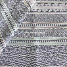 Baumwolle Stammes-Stoff ethnische Stoff aztekische Stoff Native Stoff BOHO unkonventionellen Stil Tischdecke Stoff helle Streifen Stoff - halb Yard
