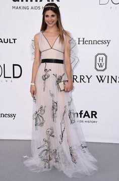 Nicoletta Romanoff in Yanina Couture #yaninacouture #nicolettaromanoff
