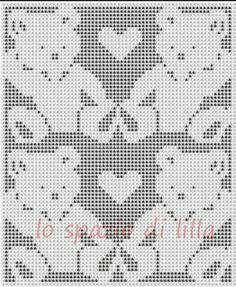 lo spazio di lilla: Schemi di orsetti a filet per le copertine da neonato / Teddy bear crochet filet charts for baby blankets