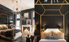 Inspiration for stylish black bedroom decor schemes: All black bedrooms, monochrome and wood decor, red and black bedrooms, black bedroom furniture and bed sets Black Bedroom Design, Black Bedroom Decor, Black Bedroom Furniture, Black Bedrooms, Furniture Nyc, Furniture Online, Cheap Furniture, Furniture Websites, Furniture Dolly