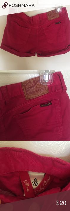 Lucky brand shorts, dark pink size 6 Good quality worn twice, size 6 Lucky Brand Shorts